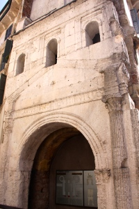 The remaining section of the Leona Gate