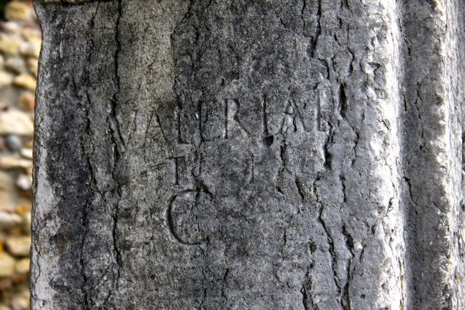Name inscriptions are still visible on some of the arches - Valerian in this case