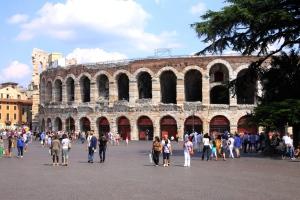 The Arena dominates Piazza Bra