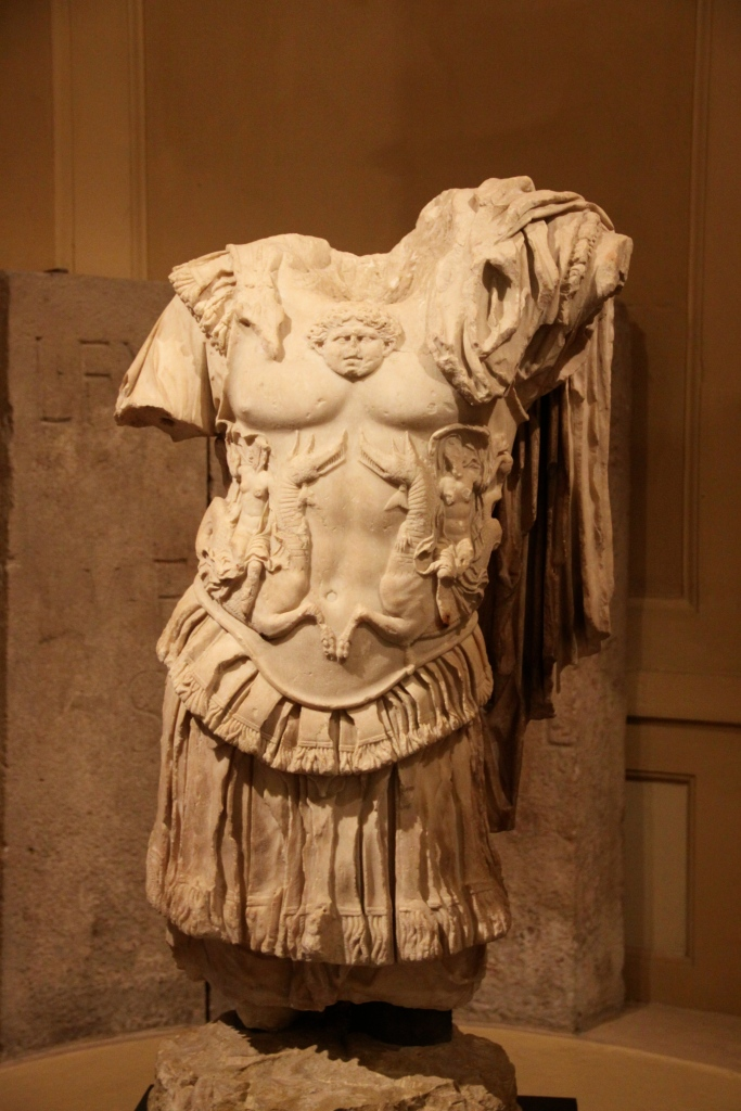 Marble torso from a statue of Nero (1st century AD)