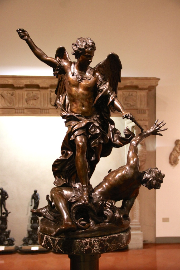 Part of the museum's collection of bronze statues