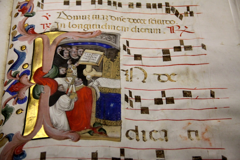 There is a collection of illuminated religious manuscripts