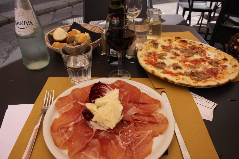 Prosciutto di Parma and parmigiano regiiano