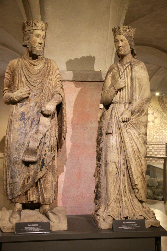 One of the highlights of the Diocesan Museum - old statues of Solomon and the Queen of Sheba