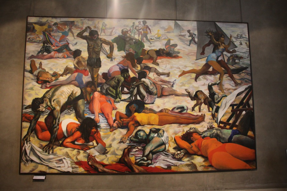 'The Beach'-  a huge painting by Renato Guttuso (1956)