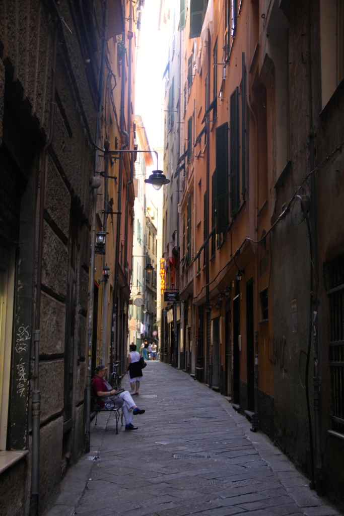 One of the alleys in the old town