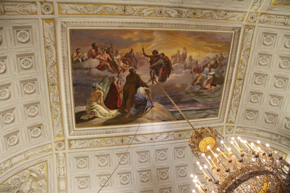 Painted ceilings and crystal chandeliers - Palazzo Reale