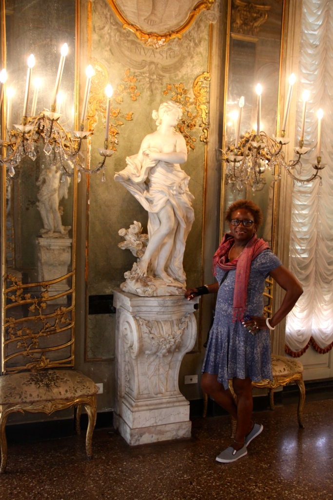 Bev in the Hall of Mirrors