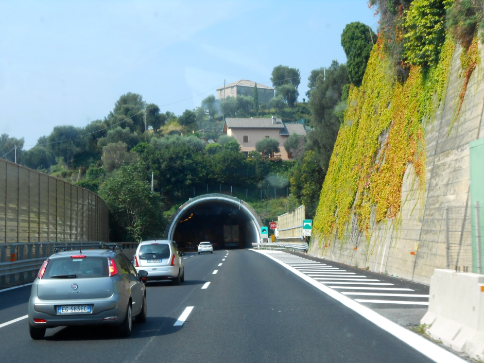 One of the 117 tunnels we passed through
