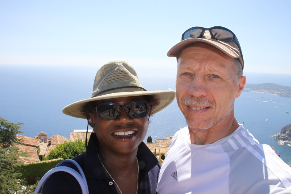 A selfie from the castle ruins of Eze Village