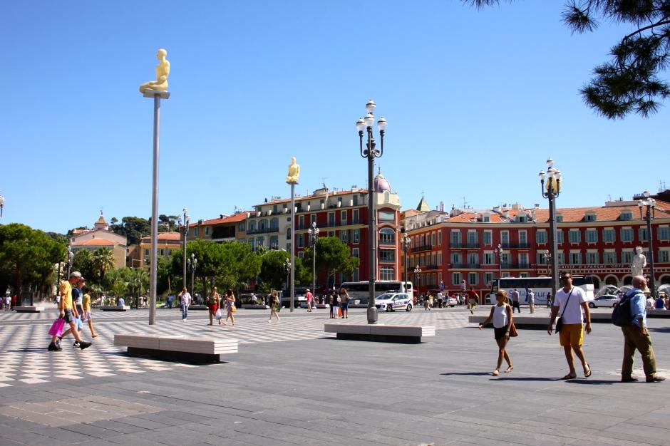 Pedestrianised area in Nice