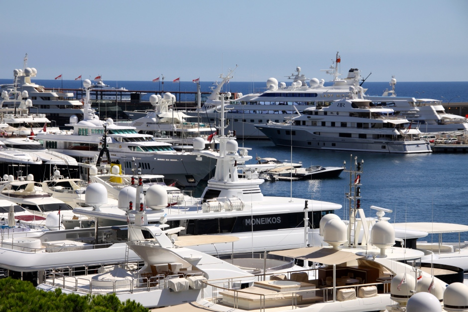 Just some of the super yachts in the harbour