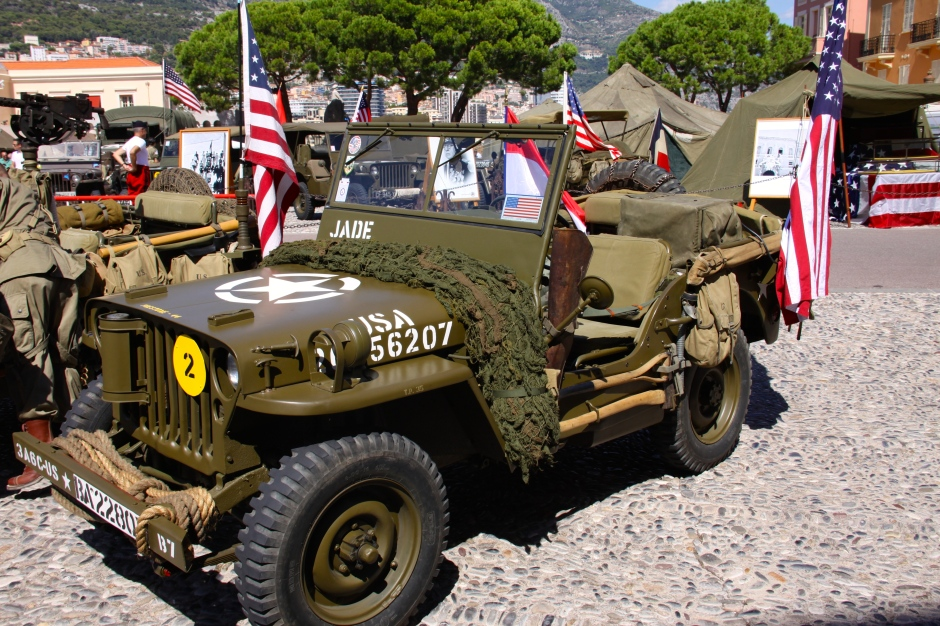 One of several Jeeps on display