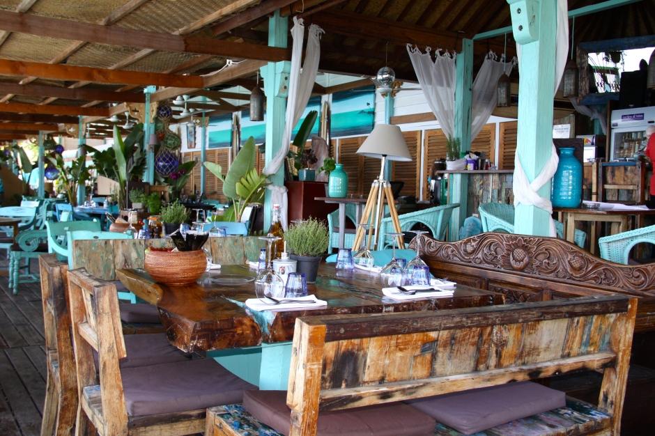 Inside the Anjuna Beach restaurant