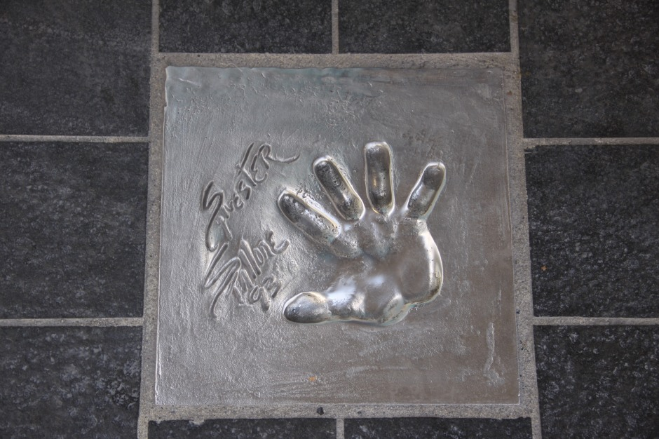 Sylvester Stallone hand-print