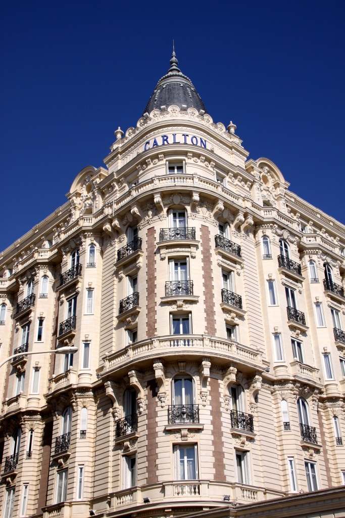 Part of the famous luxury InterContinental Carlton Hotel in Cannes, built in 1911. The hotel was a central location for the Alfred Hitchcock film 'To Catch a Thief' starring Grace Kelly and Cary Grant. In 2013, $137 worth of jewels were stolen from the hotel in a daylight robbery.