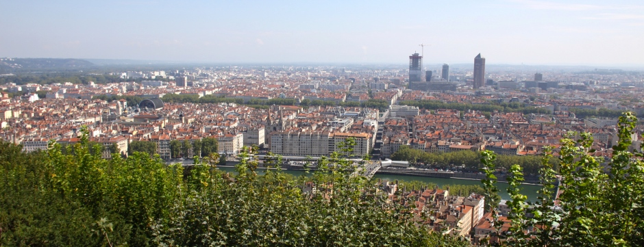 View of Lyon from the Basilica