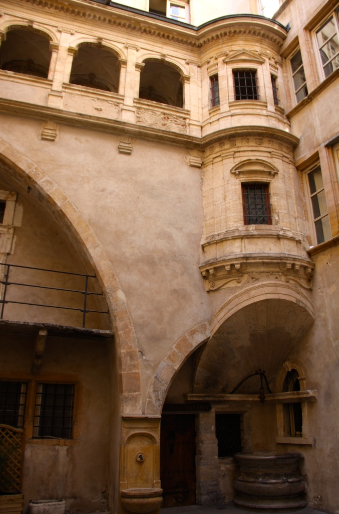 Architecture inside one of the traboules