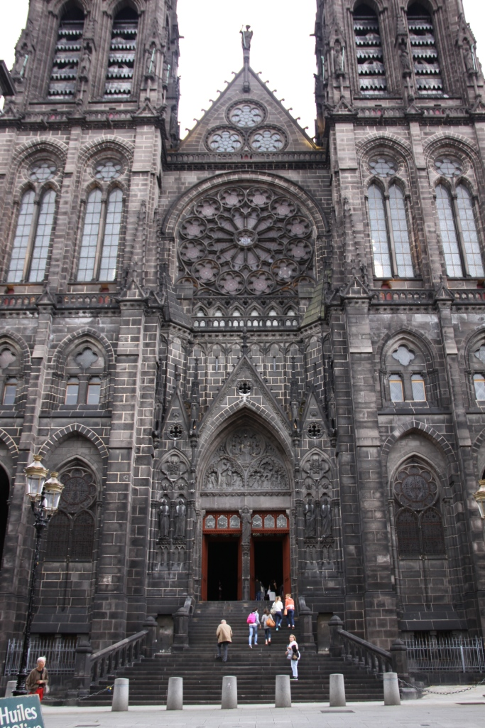 Cathedral in Clermont-Ferrand, made of black volcanic stone