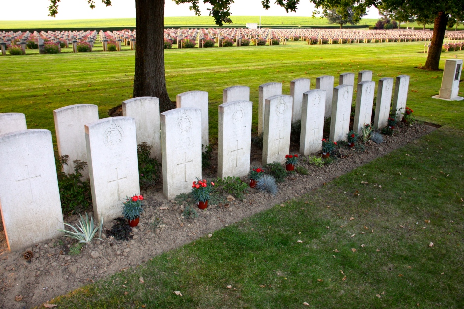Final resting place of soldiers from The Rifle Brigade