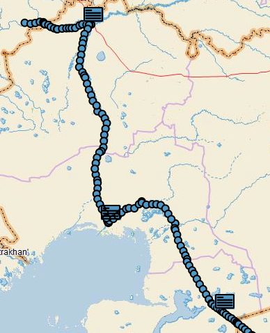 The route north through Kazakhstan