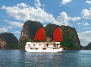 V'Spirit Cruise boat in Halong Bay