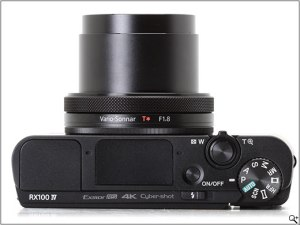 Top view of Sony DSC-RX100 IV