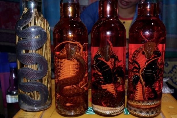 Snakes in whiskey