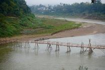 Another temporary bamboo bridge