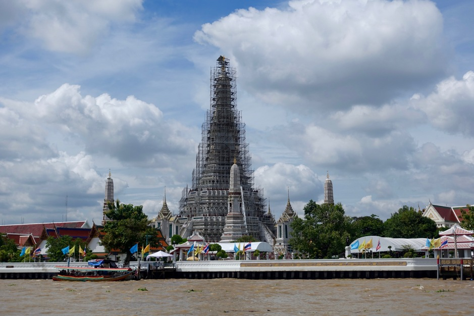 Wat Arun, on the bank of the Chao Phraya River
