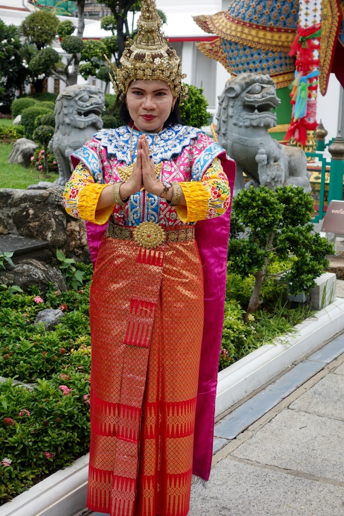 Woman in traditional Thai clothing