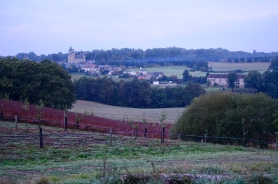 Chateau over the fields