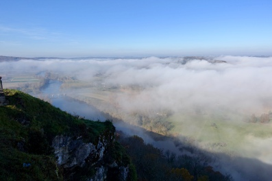 Mist over the Dordogne Valley