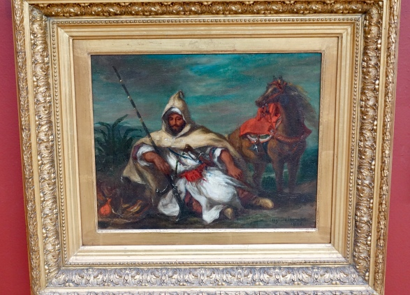 """Horseman of the Sultan of Morocco's Army"" by Eugene Delacroix, 1845"