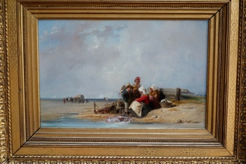 "Fisherman's Family on a Coast in Normandy"" by Camille Joseph Etienne Roqueplan"