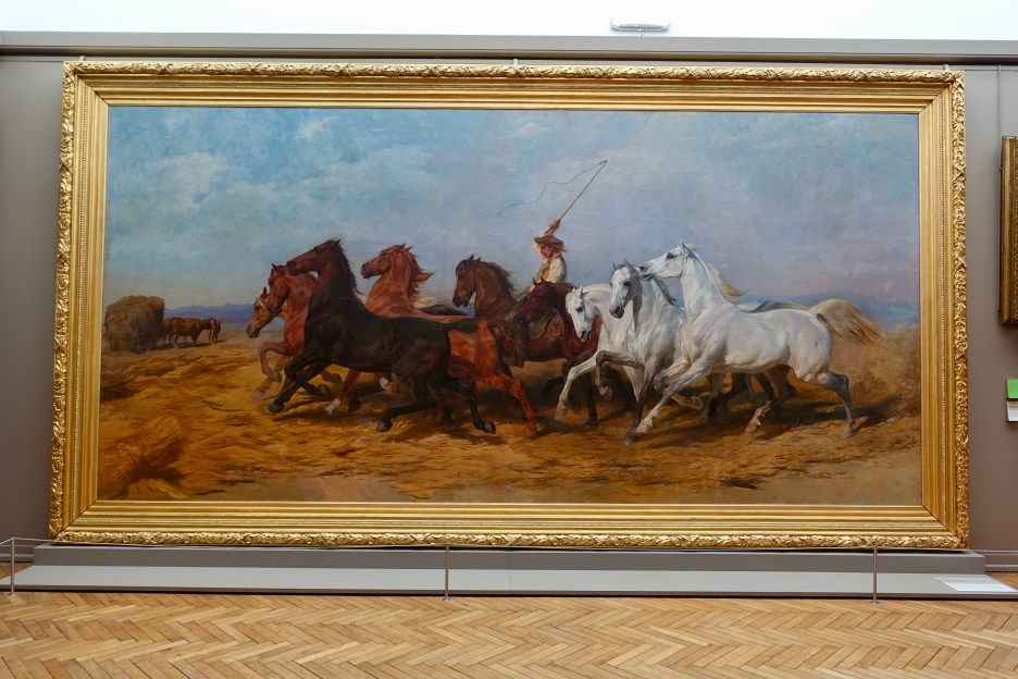"""Treading the Wheat in Camargue"" by Rosa Bonheur, 1899"