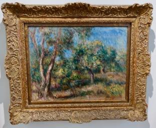 """Landscape in Cagnes"" by Pierre-Auguste Renoir, 1915"