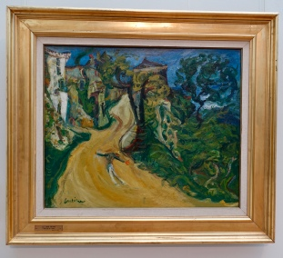 """Blue Man on the Road"" by Chaime Soutine"