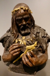 Replica sculpture of Cro-magnon man