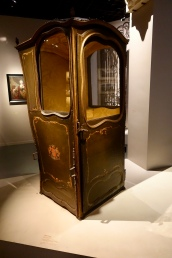 Single seat sedan chair from Louis XV period