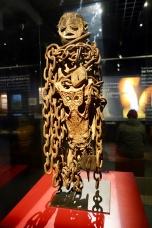 Fon fetish idol that incorporates slave chains and crocodile skulls