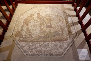 Central motif of mosaic pavement, 2AD