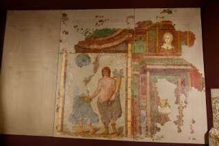Partial reconstruction of a dining room wall, 3AD