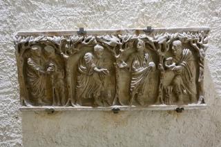 Marble sarcophagus, 4AD