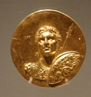 Gold coin featuring Alexander the Great