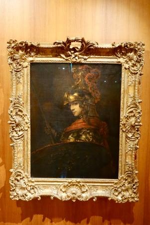 Pallas Athena by Rembrandt