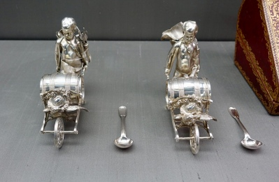 Pair of silver mustard barrels, France 1750
