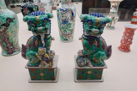 Pair of Lions or 'Foo Dogs', China 1700-1720