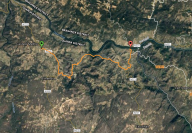 My track between Castelo Melhor and Barca D'Alva
