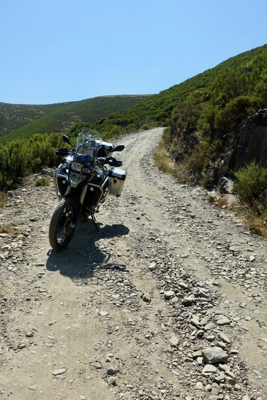 Dirt and gravel track